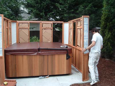 Assembly Of Pacific Hot Tub Gazebos