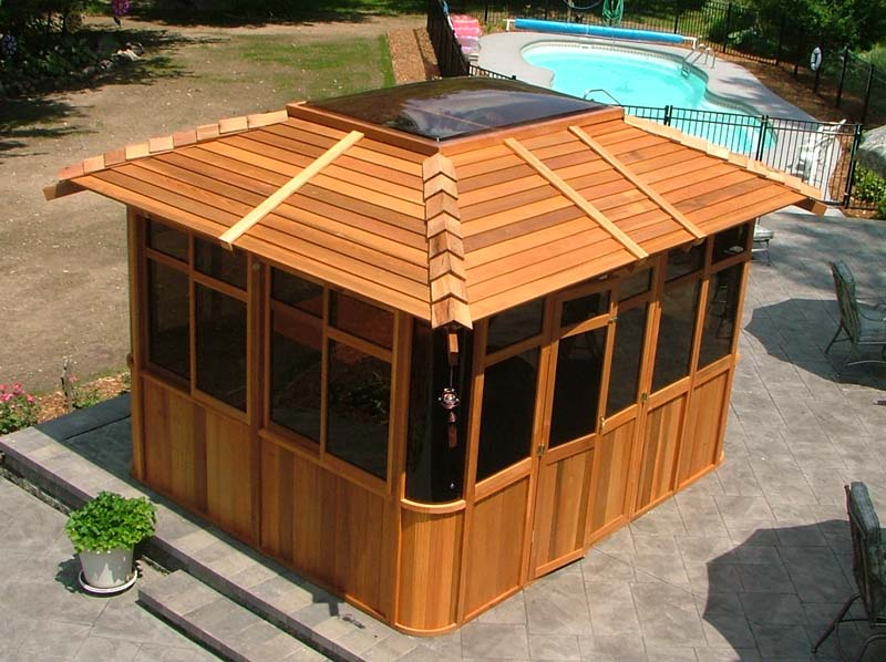 Cedar Gazebo Hot Tub Enclosures Joy Studio Design