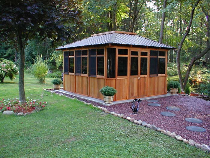 Cedarview spa house pacific 12 39 x 14 39 for Spa gazebo kits